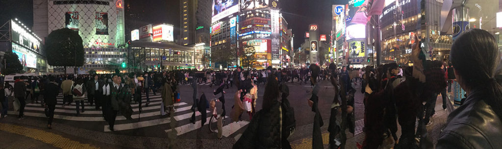 The Scramble Crosswalk Shibuya Tokyo