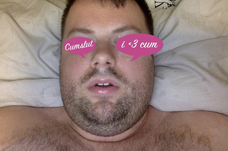 cum eating CEI self facial